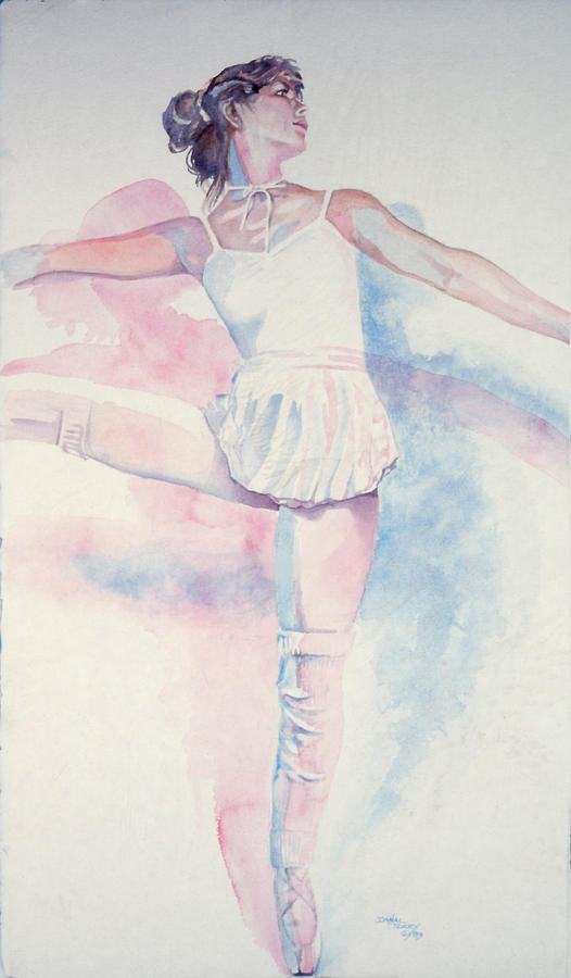 Dance Painting - Dancer In Shades Of White by Dan Terry