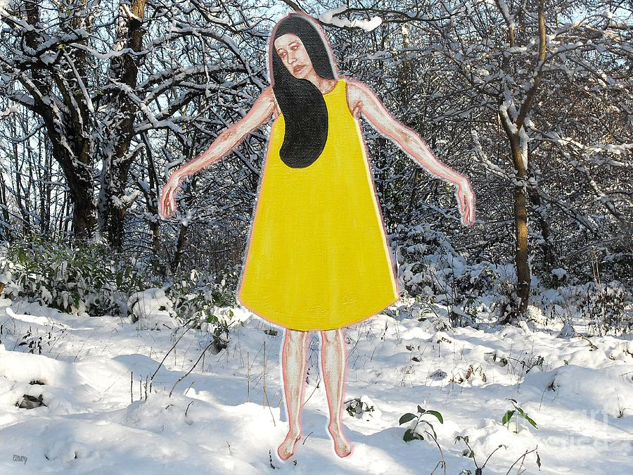 Ballerina Painting - Dancer In The Snow by Patrick J Murphy