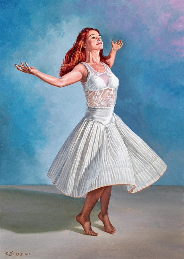 Figure Painting - Dancer In White by Paul Krapf