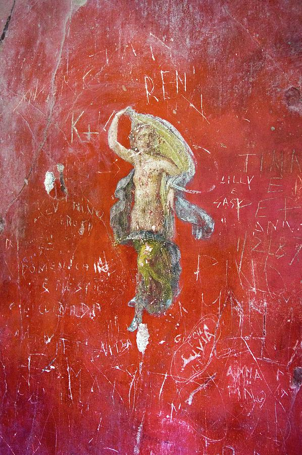 Wall Photograph - Dancer Painting In Pompeii. by Mark Williamson/science Photo Library