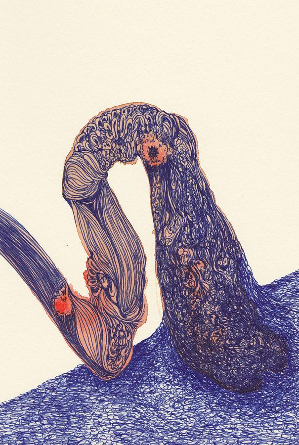 Dancer Drawing - Dancer- #ss14dw012 by Satomi Sugimoto