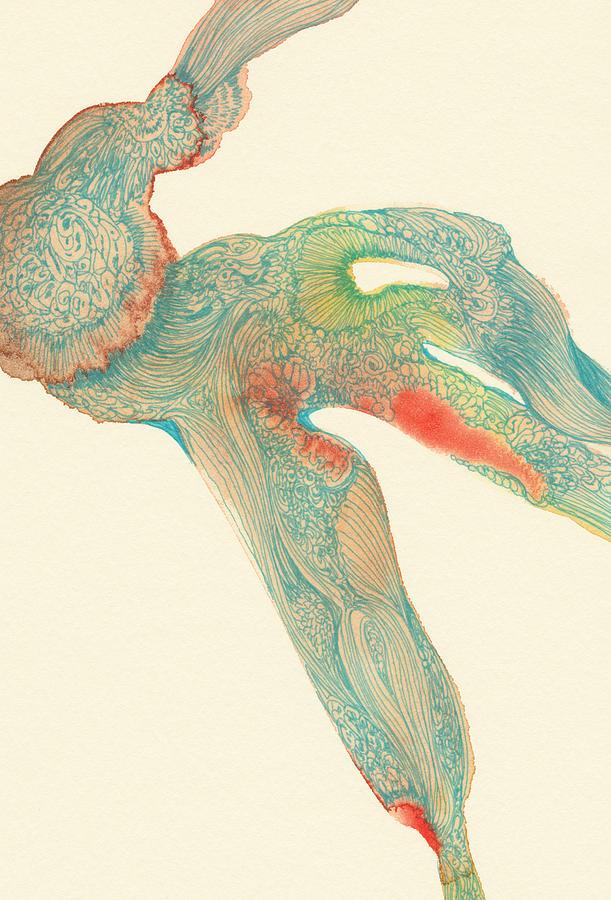 Dancer Drawing - Dancer- #ss14dw015 by Satomi Sugimoto