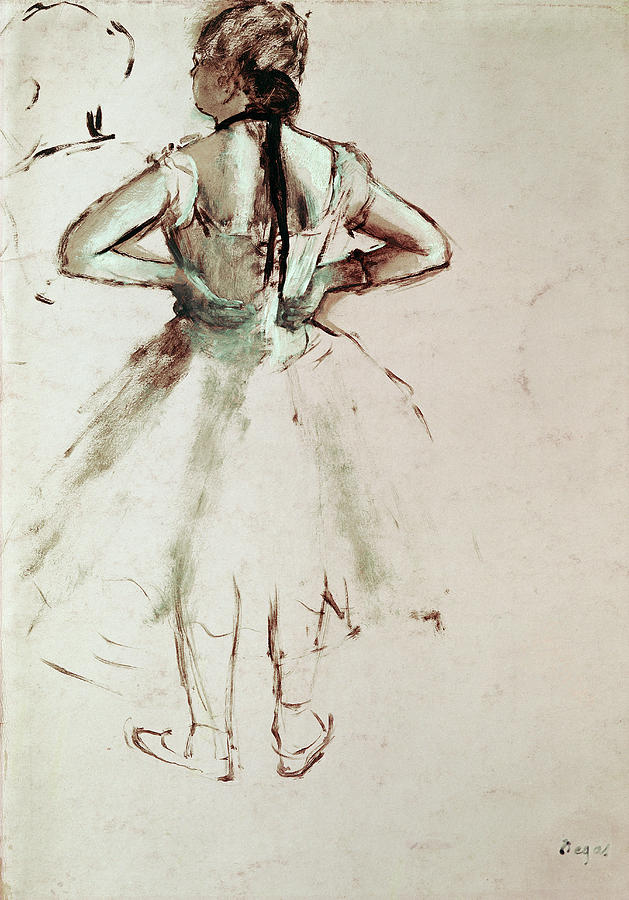 Degas Painting - Dancer Viewed From The Back by Edgar Degas
