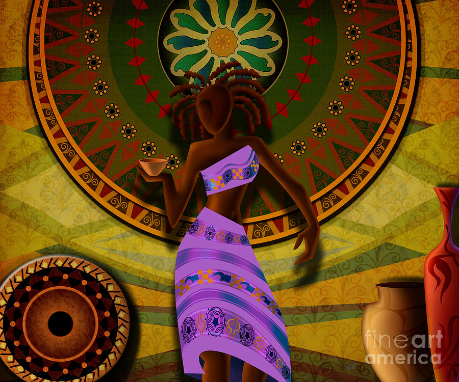 Digital Design Digital Art - Dancer With Cup by Bedros Awak