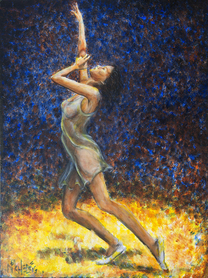 Dancer Painting - Dancer X by Nik Helbig