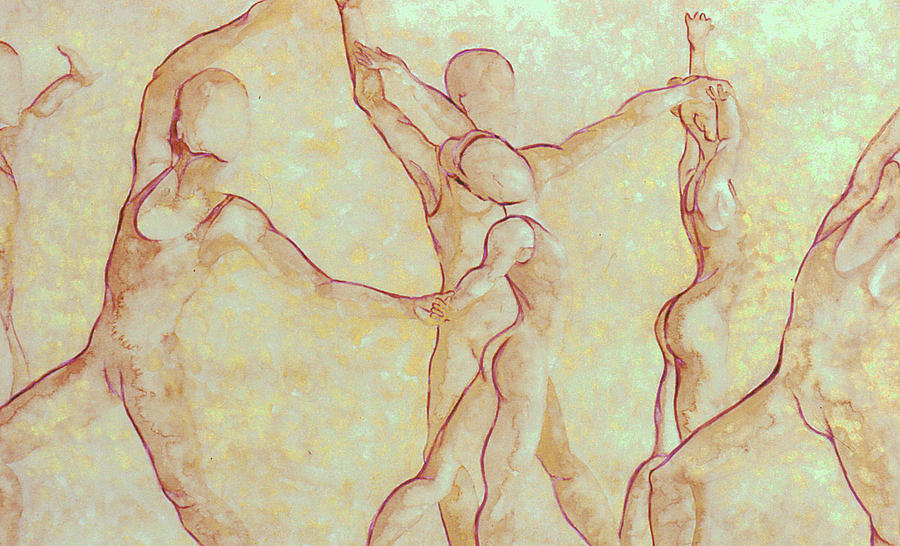 Watercolor Painting - Dancers - 10 by Caron Sloan Zuger