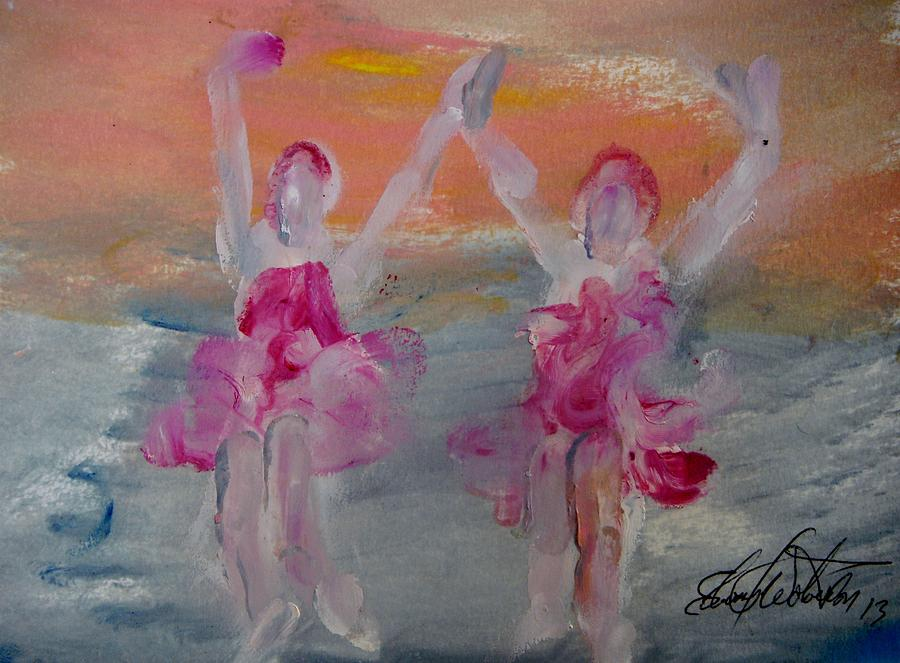 Dance Painting - Dancers 135 by Edward Wolverton