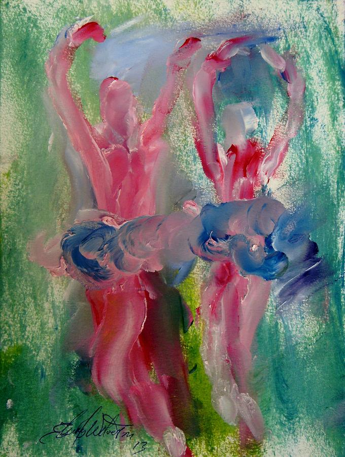 Dance Painting - Dancers 141 by Edward Wolverton