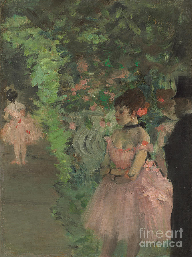 Degas Painting - Dancers Backstage by Edgar Degas