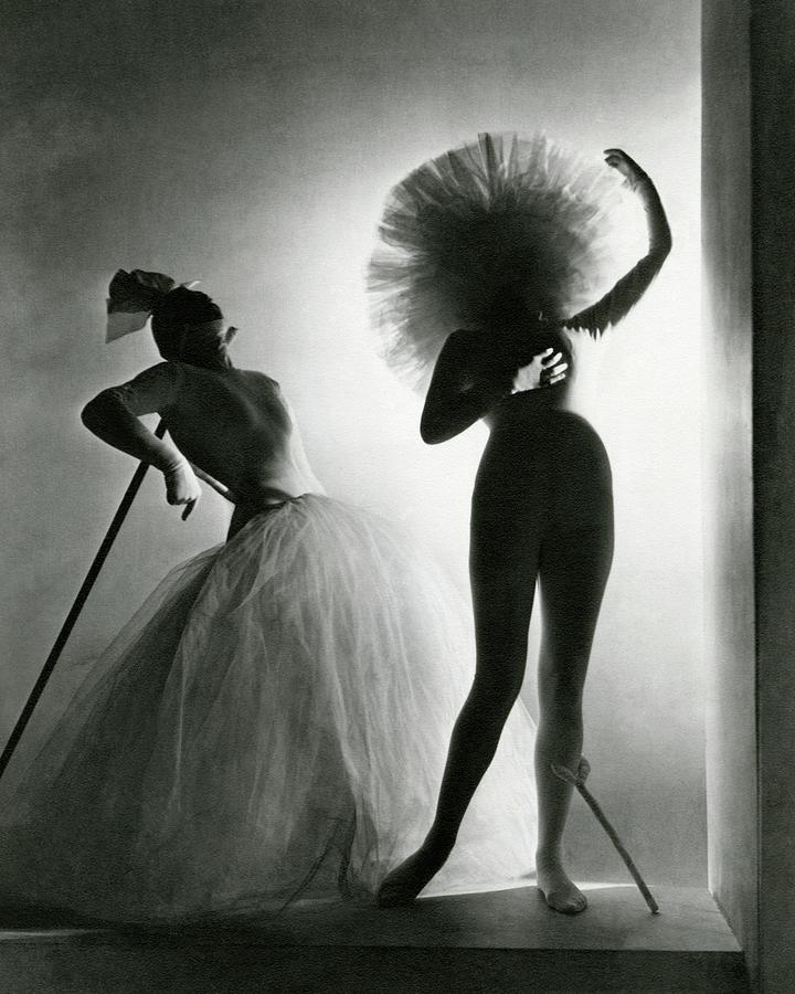 Dancers Posing In Costumes From Salvador Dali's by Horst P  Horst