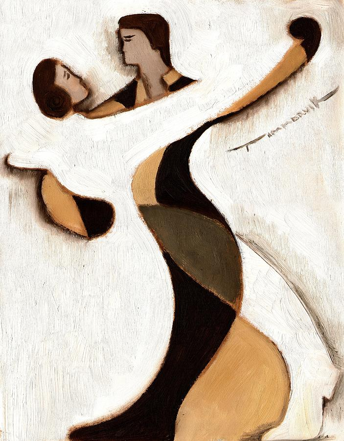 Dancing Painting - Tommervik Abstract Dancers  Art Print by Tommervik