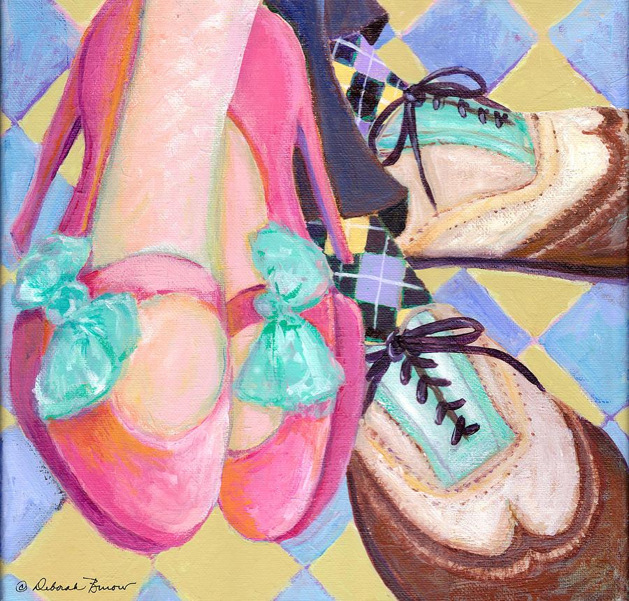 Dancing Shoes Painting - Dancin Shoes by Deborah Burow