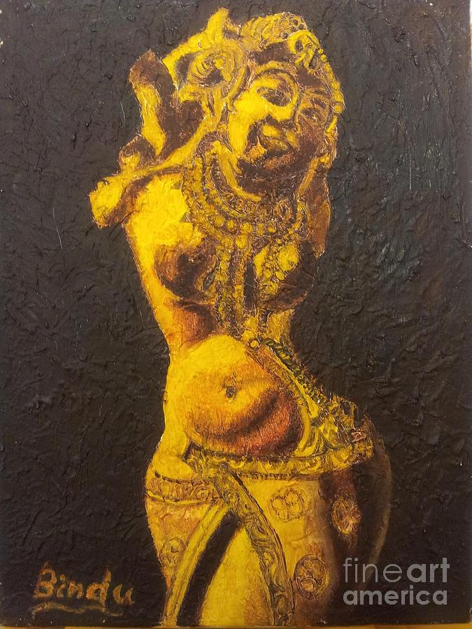 Apsara paintings fine art america apsara painting dancing apsara by bindu bajaj thecheapjerseys Gallery