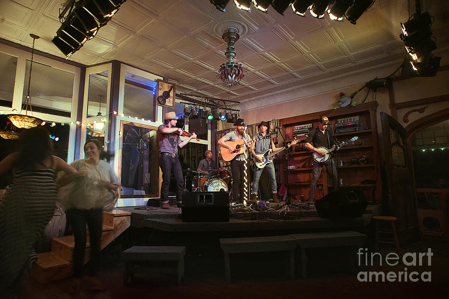 Dancing At The Purple Fiddle With Bryan Elijah Smith And The Wild Heart Band  Photograph by Dan Friend