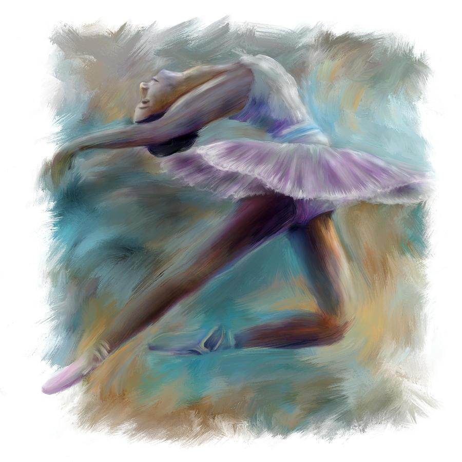 Animal Painting - Dancing Ballerina by Bijan Studio