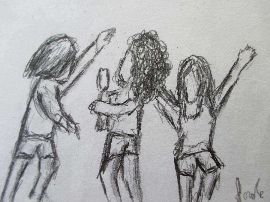 Children Drawing - Dancing Children by Steve Jorde