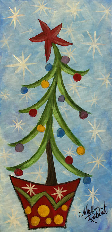 Dancing Christmas Tree Painting By Molly Roberts