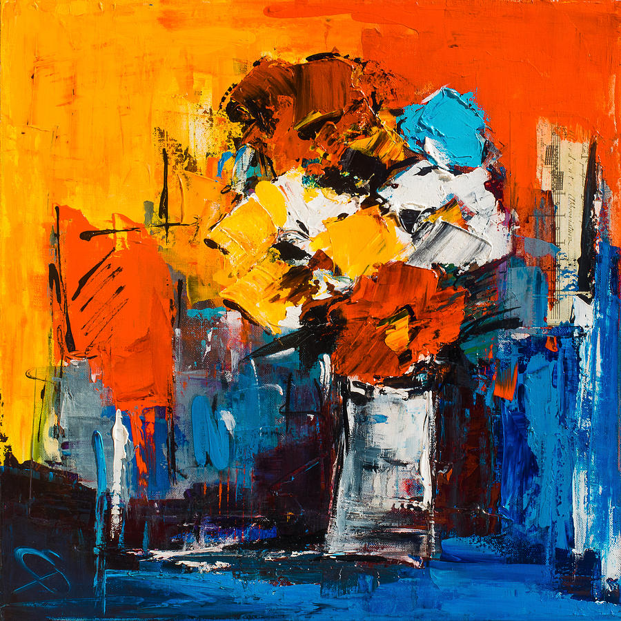 Flowers Painting - Dancing Colors by Elise Palmigiani