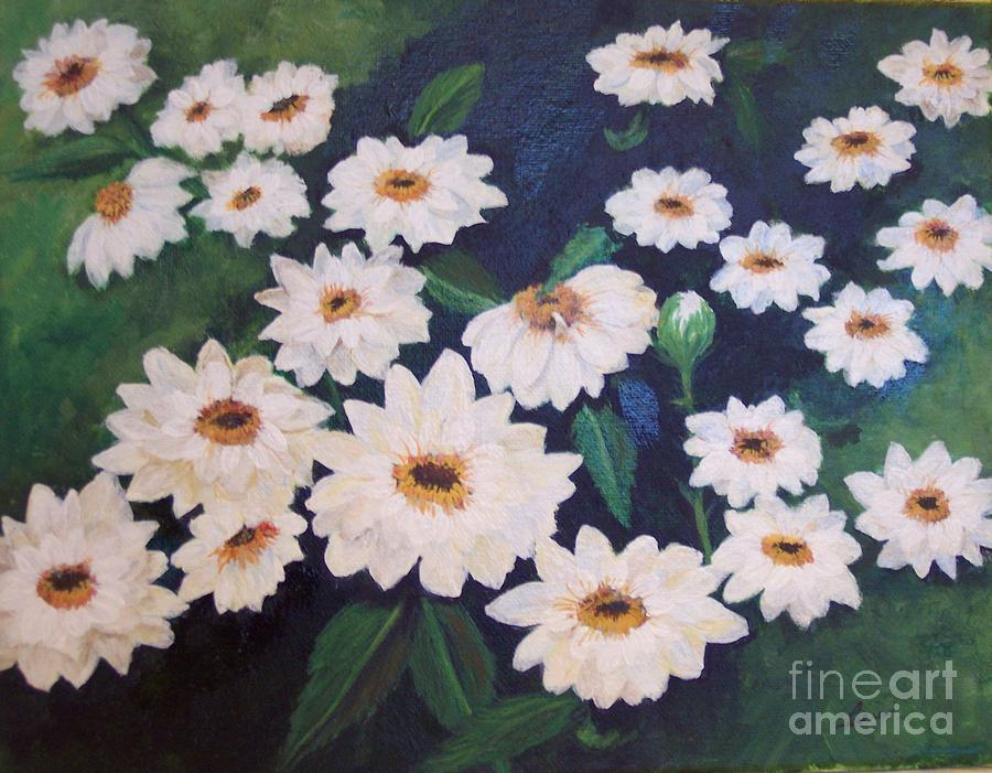 Daisies Painting - Dancing Dasies by Lucia Grilletto