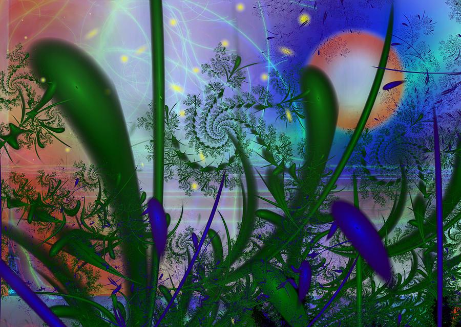Fireflies Painting - Dancing Fireflies by Faye Symons