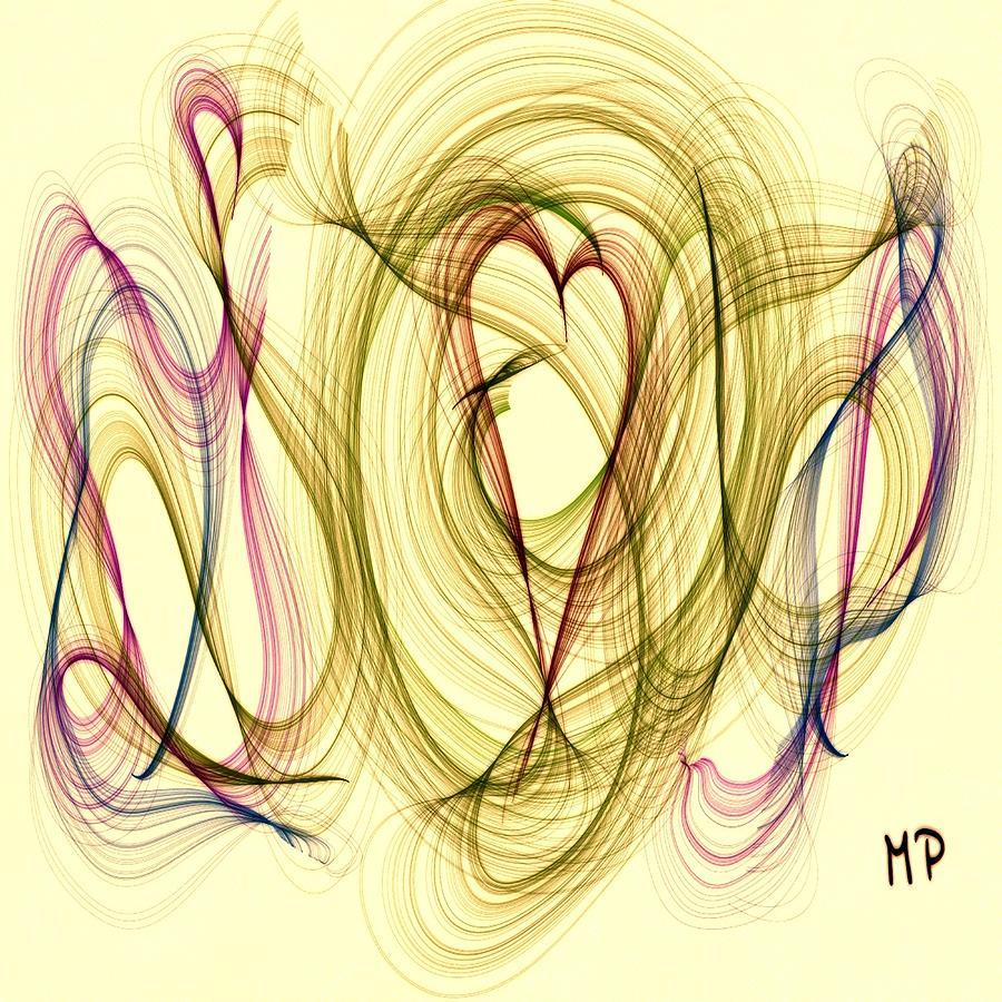Heart Mixed Media - Dancing Heart by Marian Palucci-Lonzetta