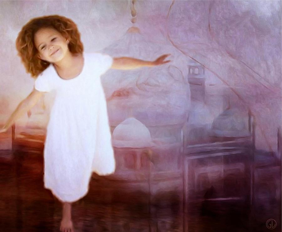 Child Digital Art - Dancing In A Fairy Tale by Gun Legler
