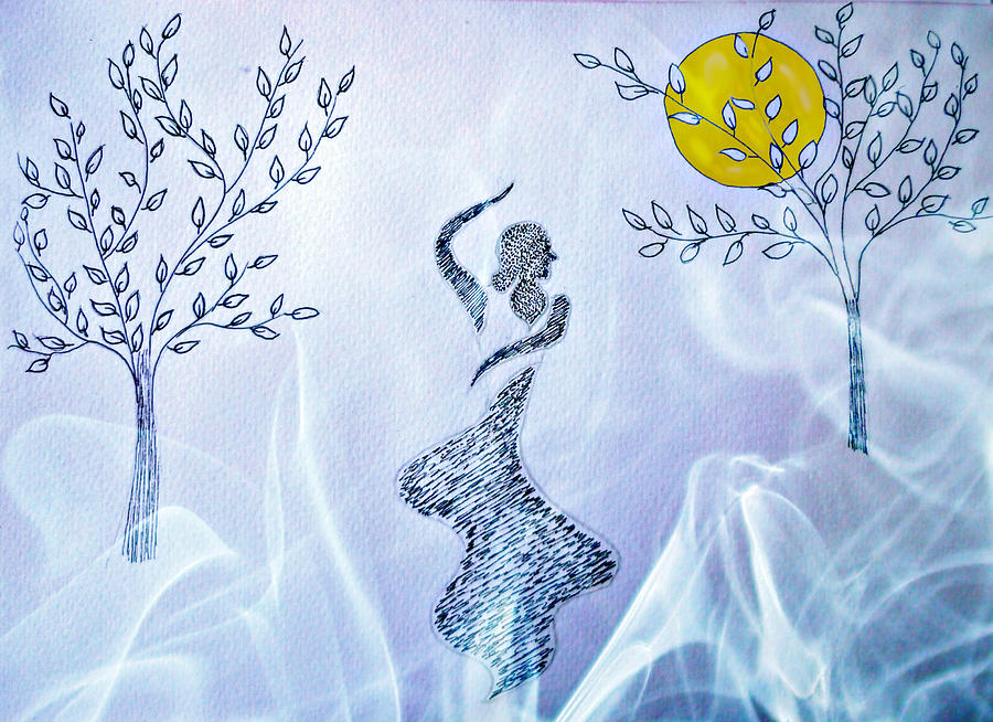 Moonlight Mixed Media - Dancing In The Moonlight by Jo Ann