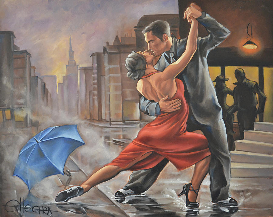 Dancing In The Rain Painting By Donka Nucheva Ellectra