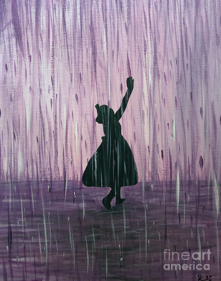 dancing in the rain painting by kindra marie. Black Bedroom Furniture Sets. Home Design Ideas