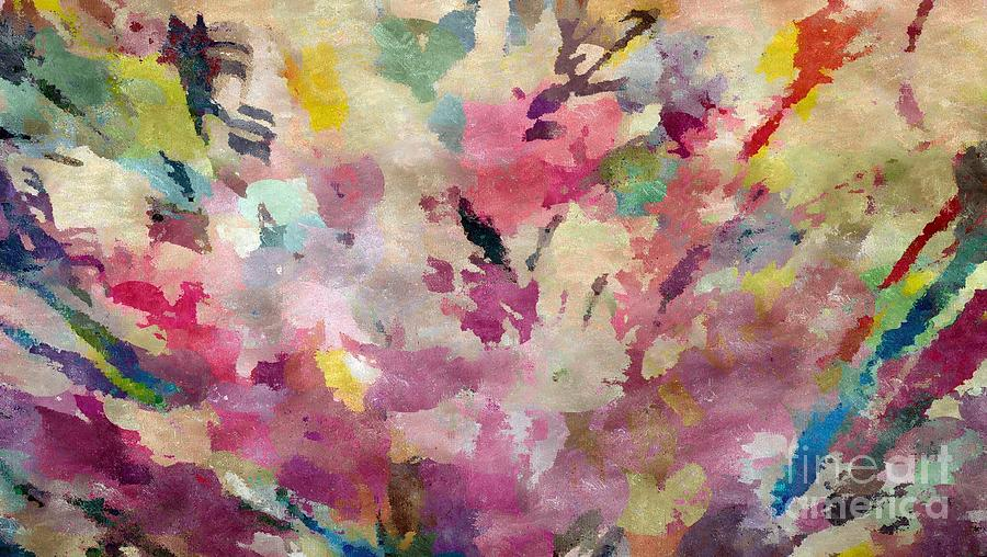Pink Flowers Painting - Dancing In The Wind by Cindy McClung