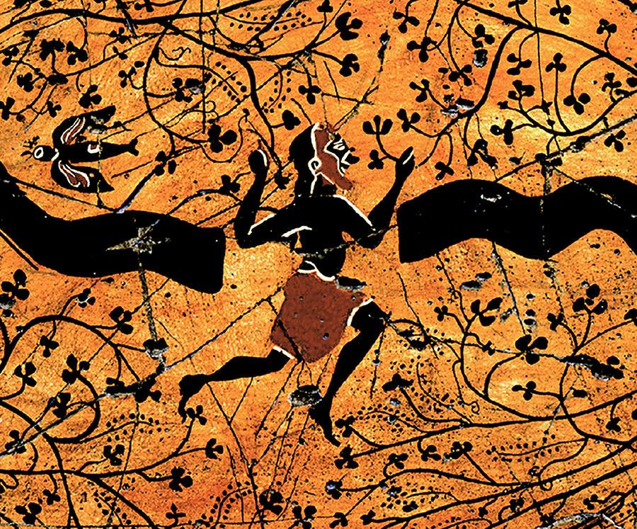 Greek Painting - Dancing Man - Study No. 1 by Steve Bogdanoff