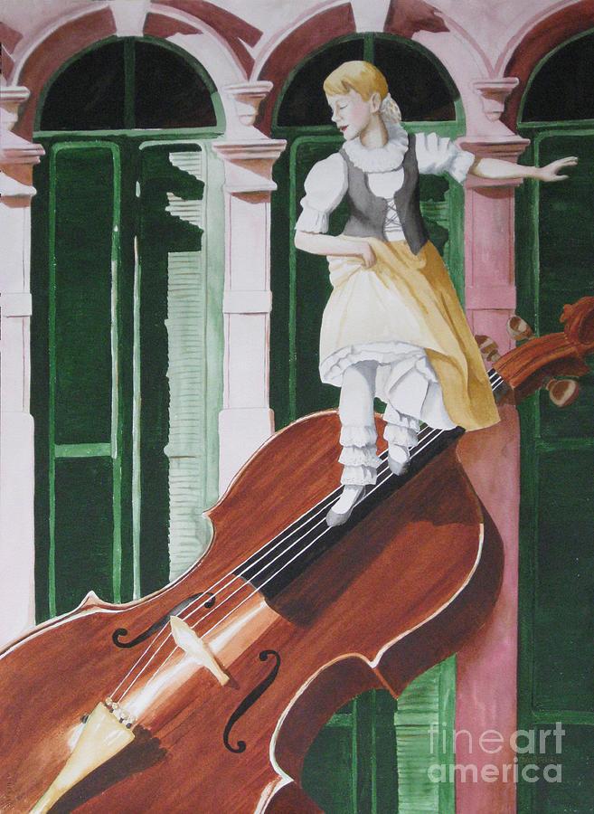 Violin Painting - Dancing On Strings by Parrish Hirasaki
