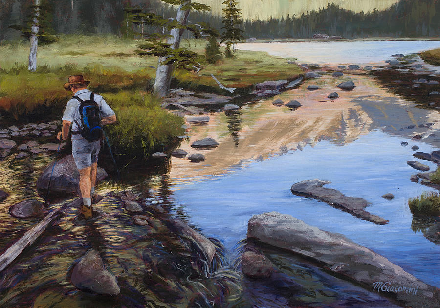 Hike Painting - Dancing On The Keyboards by Mary Giacomini