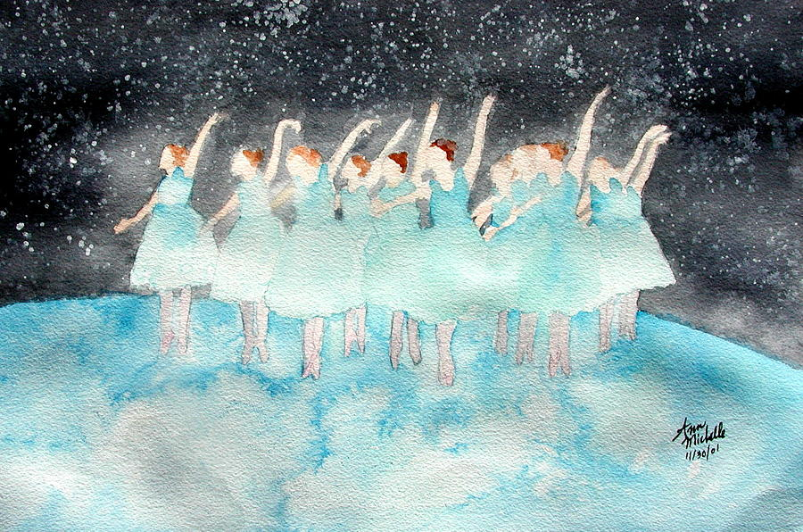 Dancers Painting - Dancing On Top Of The World by Ann Michelle Swadener