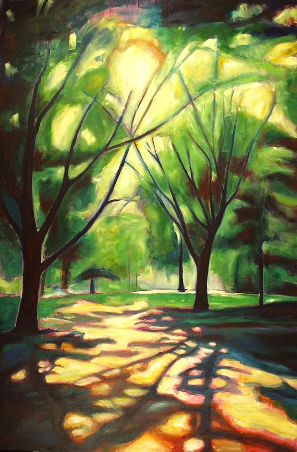 Tree Painting - Dancing Shadows by Sheila Diemert
