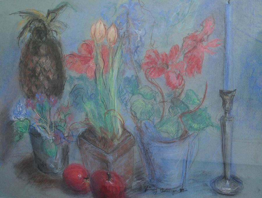 Pastel Pastel - Dancing Still Life In Pastel by Patricia Kimsey Bollinger