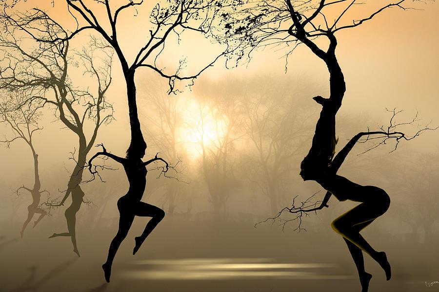 Nymphs Digital Art - Dancing Trees by Igor Zenin