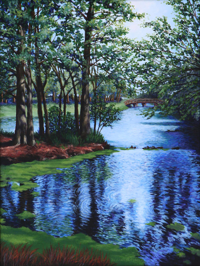 Landscape Painting - Dancing Waters by Penny Birch-Williams