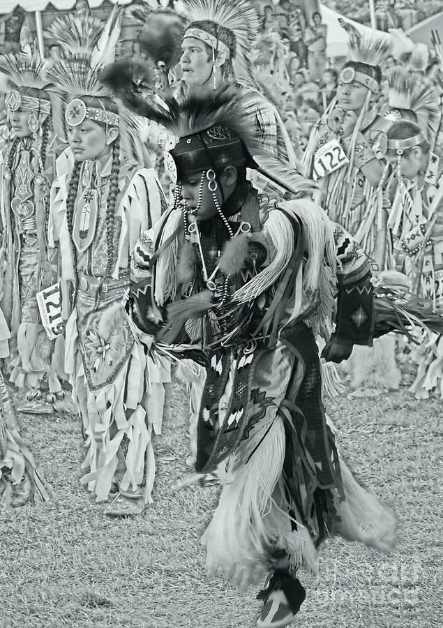 Native American Photograph - Dancing With Ancestors Silver Screen by Scarlett Images Photography
