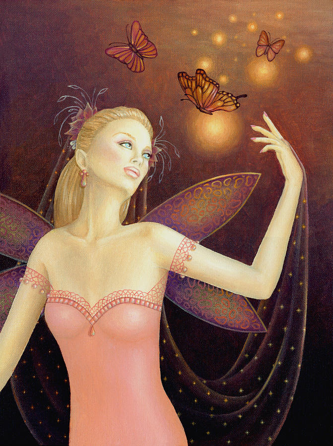 Fairy Painting - Dancing With Butterflies by B K Lusk