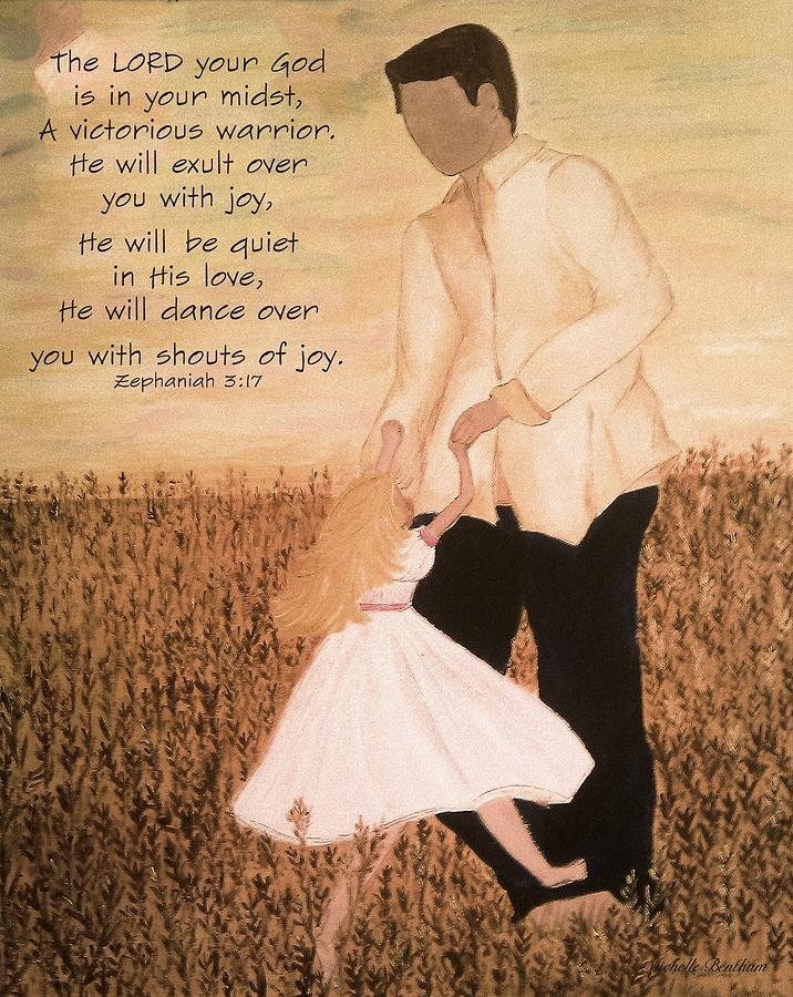 Zephaniah Painting - Dancing With Daddy by Michelle Bentham