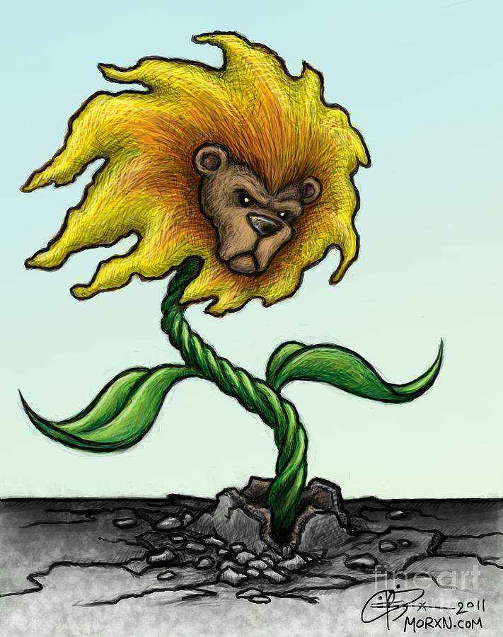 Dandelion Painting - Dande-lion by M o R x N