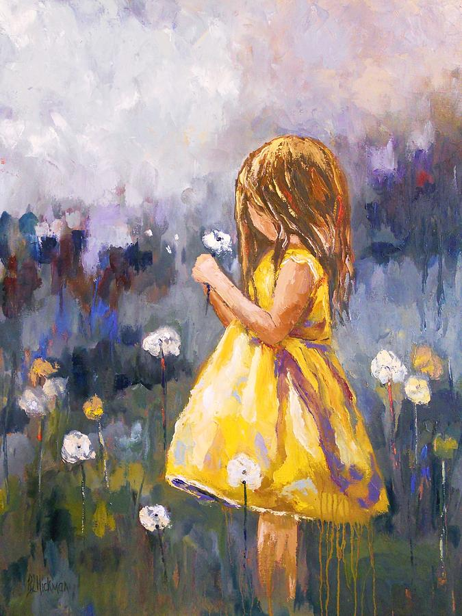 Girl Painting - Dandelion by Brandi  Hickman