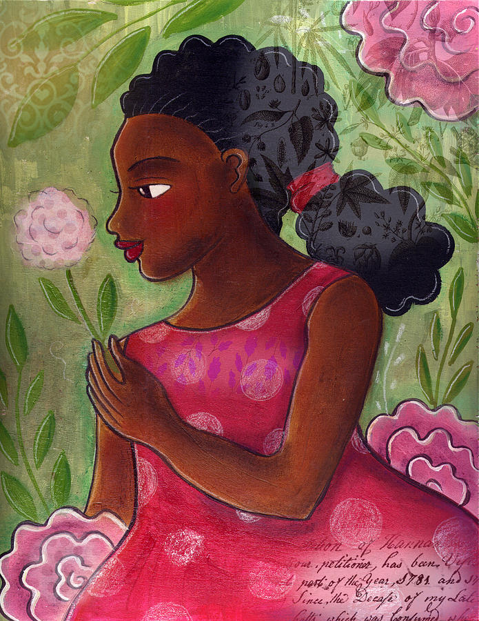 African American Mixed Media - Dandelion by Elaine Jackson
