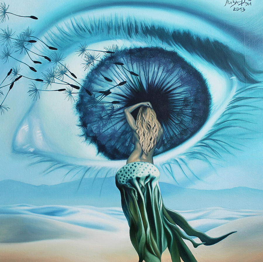 Surrealism Painting - Dandelion by Liza Ray