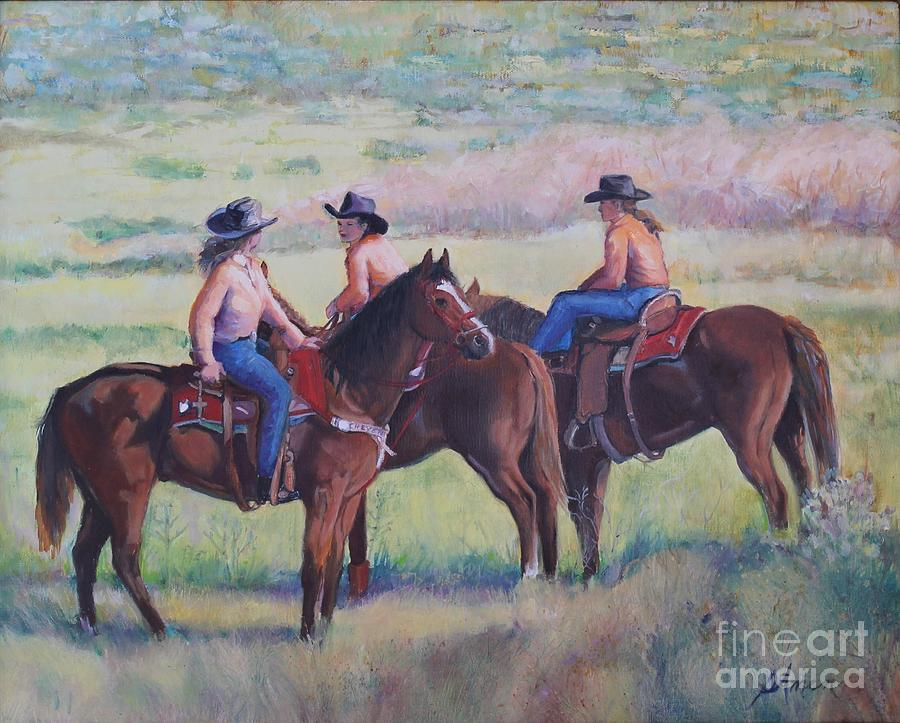 Dandies at the Cattle Drive  by Patricia Amen