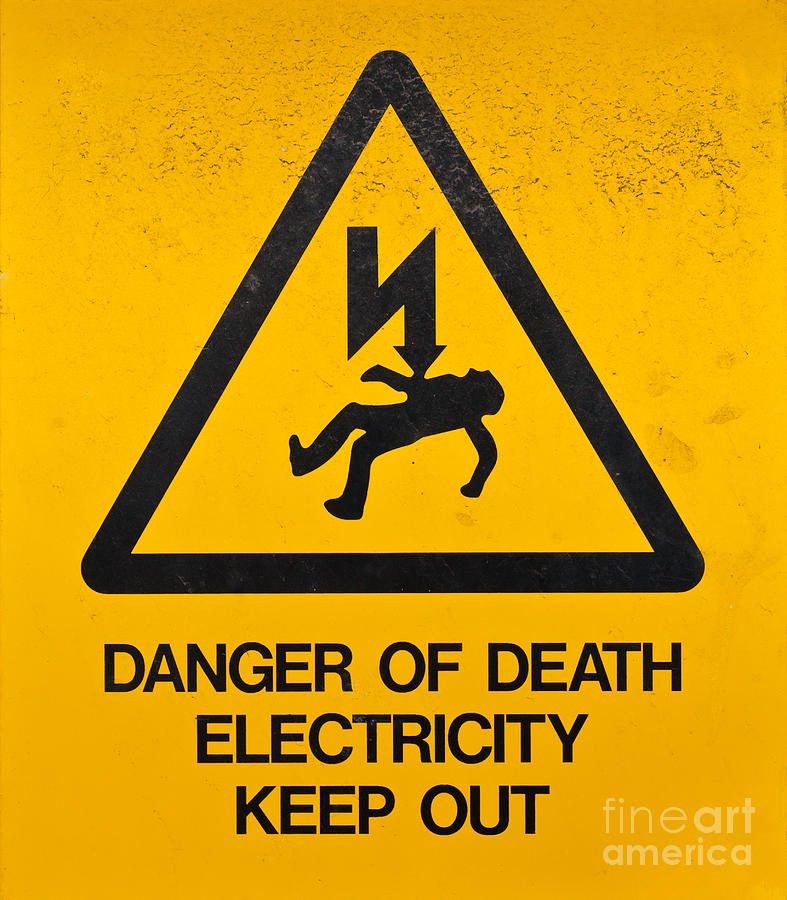 Danger Photograph - Danger Of Death - Electricity by Shawn Hempel