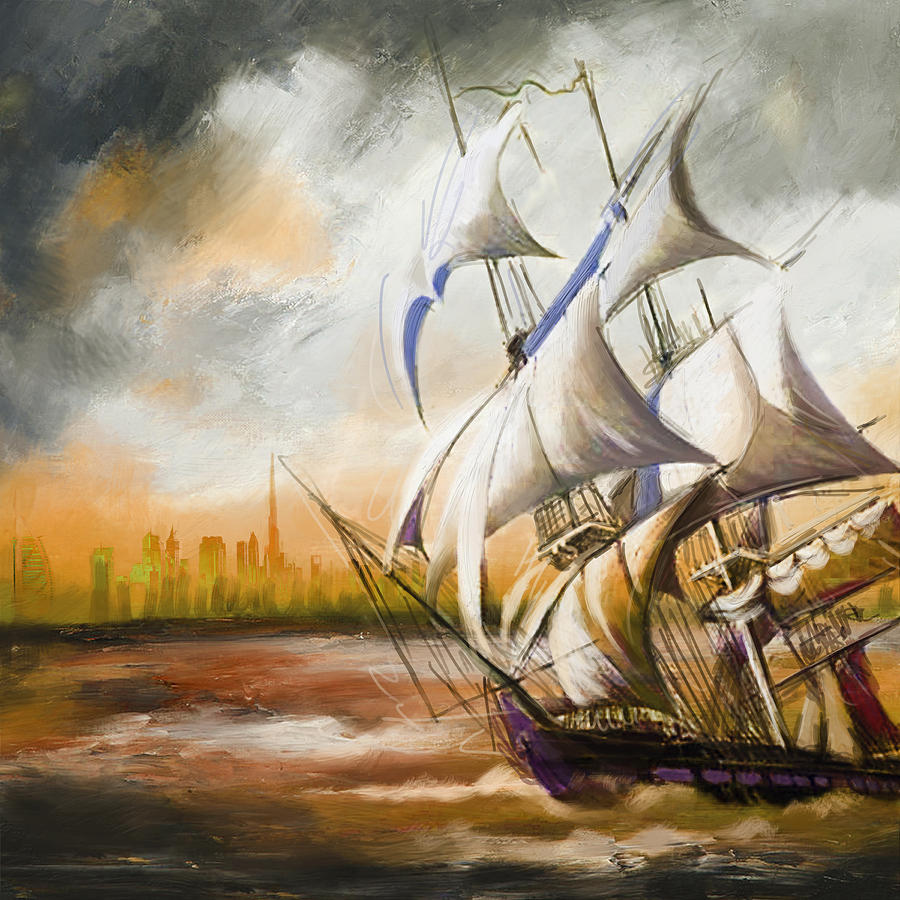 Ship Painting - Dangerous Tides by Corporate Art Task Force