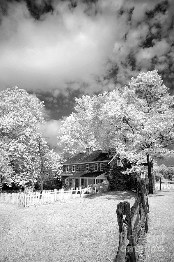 Infrared Photograph - Daniel Boone Homestead - 2 by Paul W Faust -  Impressions of Light
