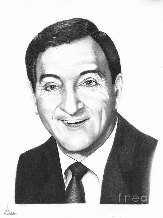 Portrait Drawing - Danny Thomas by Murphy Elliott